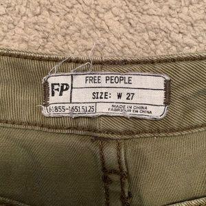 Free People Shorts - Free People Olive Denim Cut Off Shorts